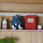 Ferienhaus Erdgeschoss: Blick in Oma's traditionellen Küchenschrank