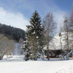 Das Ferienhaus im Schnee