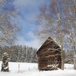 Unser alter Kornspeicher im Winter
