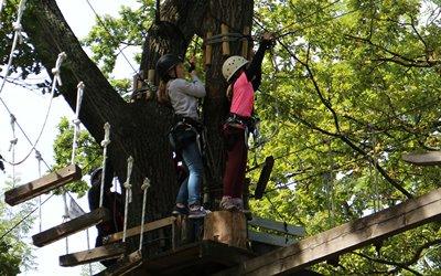 Natur Attraktion Erlebnisbox: klettern im Kletterwald