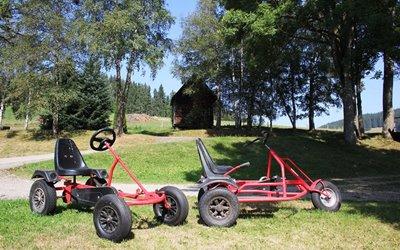 Spiel und Spaß Erlebnisbox: die Kettcars des großen Kinder-Fuhrparks