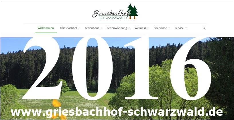 Griesbachhof Aktuelles Beiträge im Blog: Veröffentlichung der Website 2016