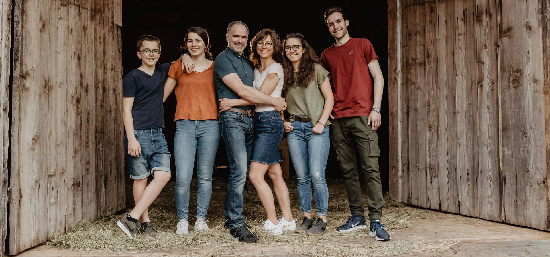Familie Ketterer Familienbild 2019 - Griesbachhof Schwarzwald
