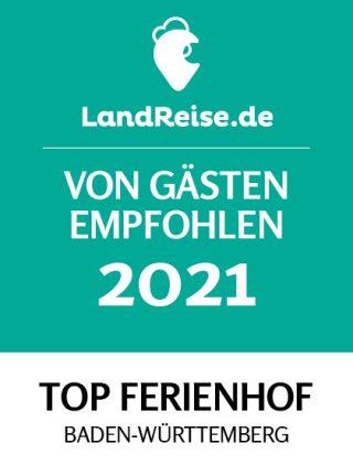 Von Gästen empfohlen - Top Ferienhof 2021